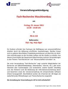 2015_01_16 Ankündigung Fach-Recherche